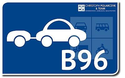 Auto + Schlüsselzahl 96: B96